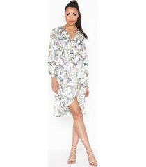 ax paris long sleeve printed dress loose fit