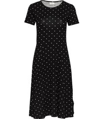 kahazel jersey dress knälång klänning svart kaffe