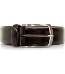 anderson's belts polished leather belt | burgundy | pl262-bur