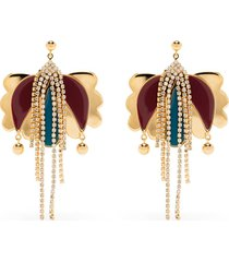 la doublej tulip drop earrings - gold