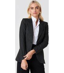trendyol oversized pinstripe blazer - black