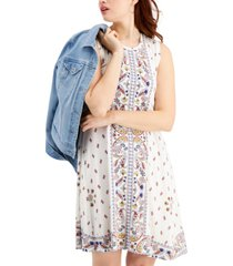 style & co petite printed flip flop dress, created for macy's