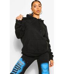 basic overhead hoodie, black