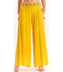pantalon basu amarillo guinda