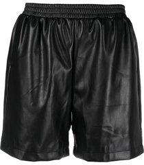 apparis yoli vegan leather shorts - black