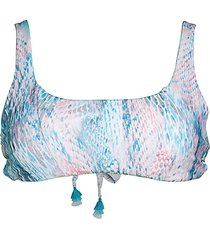 everglades print bandeau bikini top