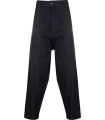 société anonyme oversized tapered trousers - blue