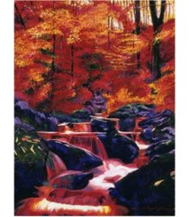 "david lloyd glover fire fall canvas art - 37"" x 49"""