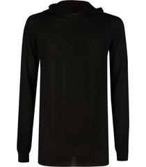 rick owens slim hooded sweater