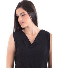blusa en chalis negro s bocared lorena  2701840