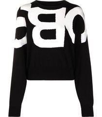 see by chloé sweatshirt with contrast logo