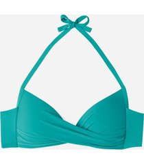 calzedonia padded triangle swimsuit top indonesia eco woman blue size 1