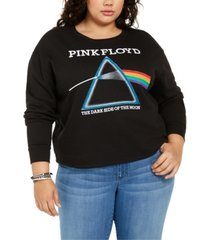 love tribe trendy plus size pink floyd prism graphic-print sweatshirt