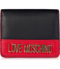 love moschino designer wallets, color block genuine leather small women's wallet