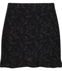 falda corta estampada color negro, talla 10