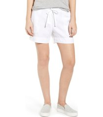 women's tommy bahama palmbray linen shorts, size small - white