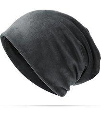 donna casual berretto beanie&skullies in velluto antivento con protezione d'orecchie tener caldo