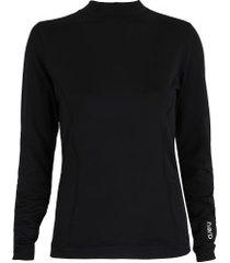 camisa térmica segunda pele manga longa nord outdoor under confort - feminina - preto