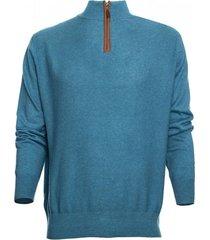 sweater half zipper azul marino mcgregor