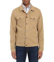 men's 34 heritage travis jacket, size medium - beige