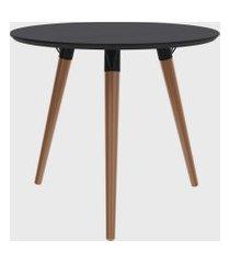 mesa redonda valentinna preto/péclaro retrô artesano