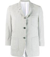 thom browne seersucker sack jacket - grey