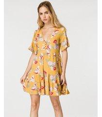 vestido amarillo wanama juliette bell