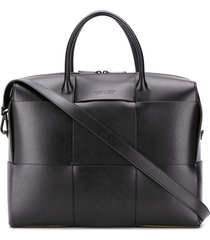 bottega veneta maxi weave briefcase - black