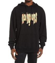 noon goons men's acid cotton graphic hoodie, size medium in black at nordstrom