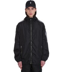 marcelo burlon county tape casual jacket in black polyester