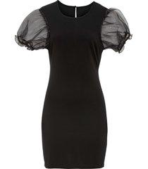 abito con maniche in organza (nero) - bodyflirt