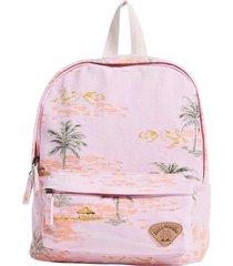 billabong mini mama print backpack - pink