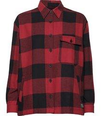 ebbie overhemd met lange mouwen rood brixtol textiles