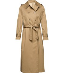 corzo trenchcoat lange jas beige tiger of sweden