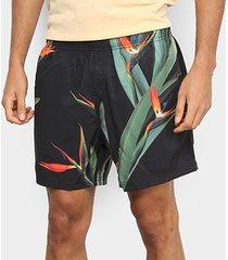 bermuda osklen beach short strelitza black masculina