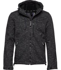 hooded winter windtrekker tunn jacka svart superdry