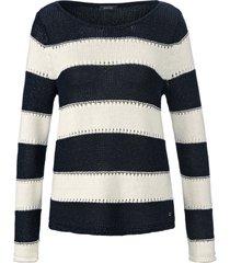 trui met lange mouwen en blokstreepdessin van basler wit