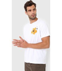 camiseta osklen hibiscus branca - branco - masculino - algodã£o - dafiti