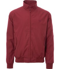 fred perry made in england harrington jacket - maroon j1170
