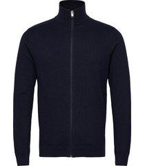slhberg full zip cardigan b stickad tröja cardigan blå selected homme