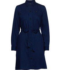 shirt dress knälång klänning blå lee jeans