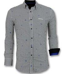 overhemd lange mouw tony backer blouse streepjes