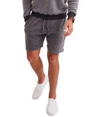 men's goodlife reversible fleece sweatshorts, size medium