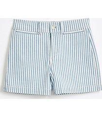 loft high waist denim shorts in blue stripe