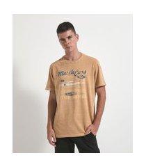 camiseta comfort manga curta com estampa carro | marfinno | amarelo | m