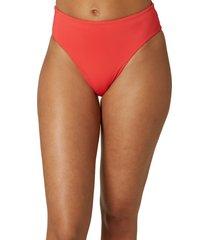 women's o'neill maxwell saltwater solid bikini bottoms, size xx-large - red