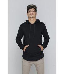 buzo negro rever pass hoodie canguro