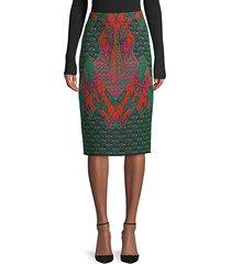 patterned knit pencil skirt