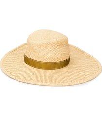 chloé wide brim sun hat - neutrals