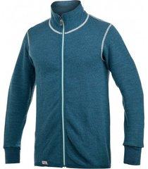 woolpower vest unisex full zip jacket 400 petrol champ-s